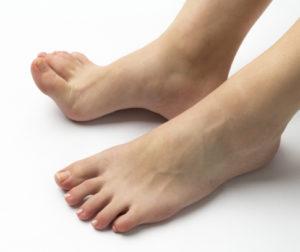 足の内側縁と足の外側縁
